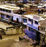 Guatemalan Roof Top Scene Art Print