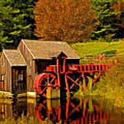 Guildhall Grist Mill Art Print