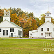 Guildhall Village Historic District In Autumn Vermont Art Print