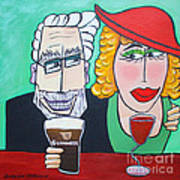Guinness Man With The Woman Of His Dreams Art Print