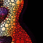 Guitar Art - She Waits Art Print