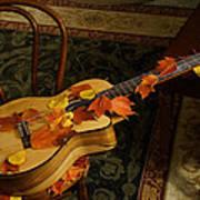 Guitar Autumn 1 Art Print