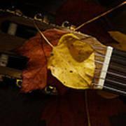 Guitar Autumn 4 Art Print