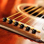 Guitar Bridge Art Print