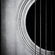 Guitar Film Noir Art Print