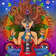 Guitar Goddess Art Print