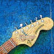 Guitar Head Art Print