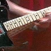 Guitar In Action Art Print