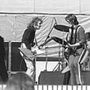 Guitar Interplay At The Day On The Green 6-6-76 Art Print