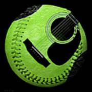 Guitar Keylime Baseball Square  Art Print