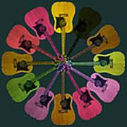 Guitar O Clock Art Print