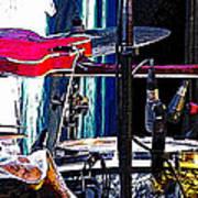 10261 Seasick Steve's Guitar On Drum Art Print