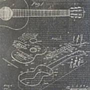 Guitar Patent Art Print
