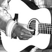 Guitar Player Art Print by Aidan Moran