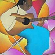 Guitar Player Art Print by Sonya Walker