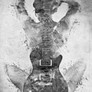 Guitar Siren In Black And White Art Print