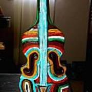 Guitar Vase Art Print