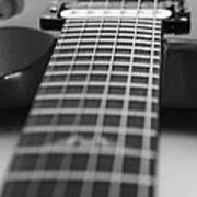 Guitar View Art Print