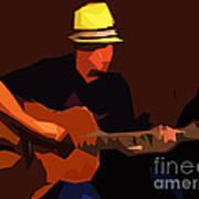 Guitarist Art Print by Soumya Bouchachi