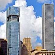 Gulf Building Houston Texas Art Print