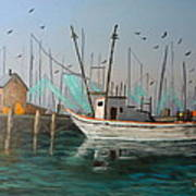 Gulf Shrimpers Art Print