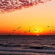 Gulf Sunset Art Print