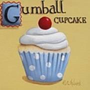 Gumball Cupcake Art Print