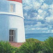 Gun Cay Lighthouse Art Print