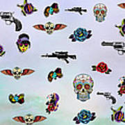 Guns And Roses  Art Print