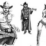 Gunslingers Art Print