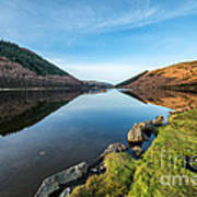 Gwydyr Forest Lake Art Print by Adrian Evans