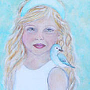 Gwyneth Little Earth Angel Of Happiness Art Print