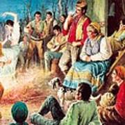 Gypsies Partying Art Print