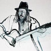 Gypsy Guitarist Art Print