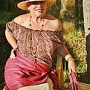 Gypsy In Cranberry Art Print