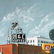 H And C Coffee Art Print