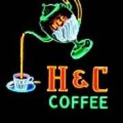 H And C Sign Art Print