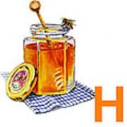 H Art Alphabet For Kids Room Art Print
