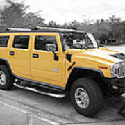 Hummer H2 Series Yellow Art Print