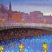 Ha Penny Bridge Dublin  Cropped Art Print