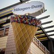 Haagen Dazs Ice Cream Signage Downtown Disneyland 01 Art Print