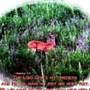 Habakkuk 3 19 Art Print