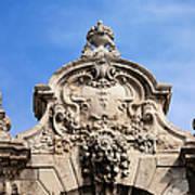 Habsburg Gate Details In Budapest Art Print