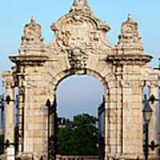 Habsburg Gate In Budapest Art Print