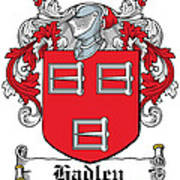 Hadley Coat Of Arms Irish Art Print