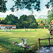 Hadlow Cricket Club Art Print