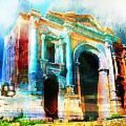 Hadrians Arch Art Print
