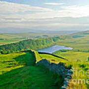 Hadrians Wall And Crag Lough Art Print
