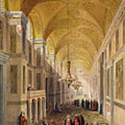 Haghia Sophia, Plate 2 The Narthex Art Print by Gaspard Fossati