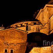 Hagia Sophia At Night Art Print